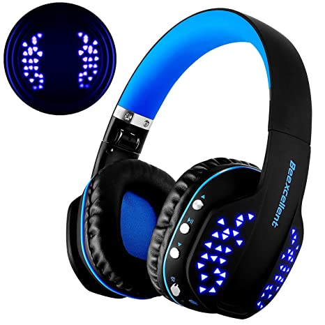 Cascos Bluetooth, Beexcellent Cascos Auriculares Inalámbricos de Diadema Plegables Estéreo Bluetooth V4.1 CSR