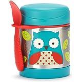 Skip Hop 可爱动物园儿童绝热饭盒和叉勺套装,多件,猫头鹰