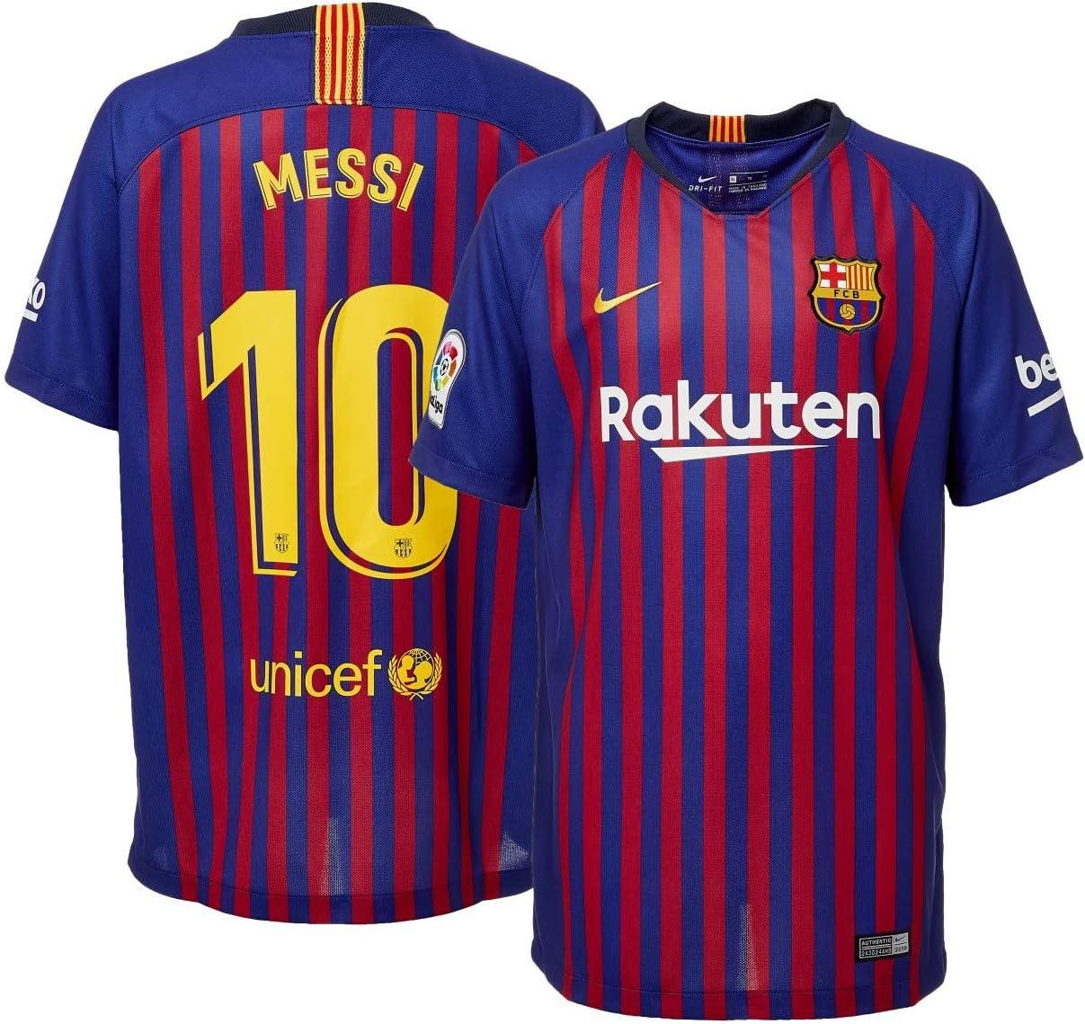 Amazon Com Barcelona 2018 19 Home Replica Player Jersey Small Clothing
