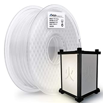 AMOLEN Impresora 3D Filamento 1.75mm, PETG Transparente con ...