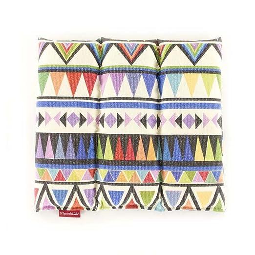 Saco Térmico de Semillas aroma Lavanda, Azahar o Romero tejido Azteca (Lavanda, 28 x 26 x 2 cm)