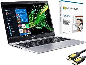 "Acer Aspire 5 Slim & Light Laptop, 15.6"" FHD IPS, AMD Ryzen 3 3200U up to 3.50 GHz, 12GB RAM, 256GB SSD+1TB HDD, Backlit KB, HDMI, Microsoft 365, Mytrix HDMI Cable, Win 10 (Renewed)"
