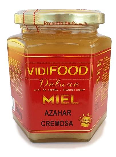 Miel de Azahar Crema - 950g - Producida en España - Alta Calidad, tradicional & 100% pura - Aroma Floral Intenso y Sabor Fuerte y Dulce - Amplia variedad de ...