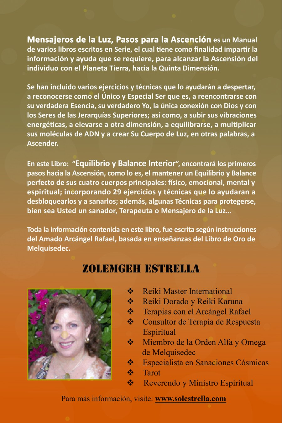 Mensajeros de la Luz, Pasos Para la Ascension: Equilibrio y Balance  Interior (Spanish Edition): Zolemgeh Estrella: 9789801255123: Books -  Amazon.ca