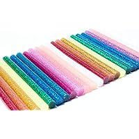 Lijmsticks, hete lijmstiften, 100 stuks, 7 x 100 mm, gekleurde smeltlijmstiften voor doe-het-zelf handwerk, afdichting…