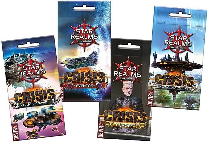 Devir Expositor de Star Realms, Crisis, edición en español, Miscelanea (BGSRCRISIS): Amazon.es: Juguetes y juegos