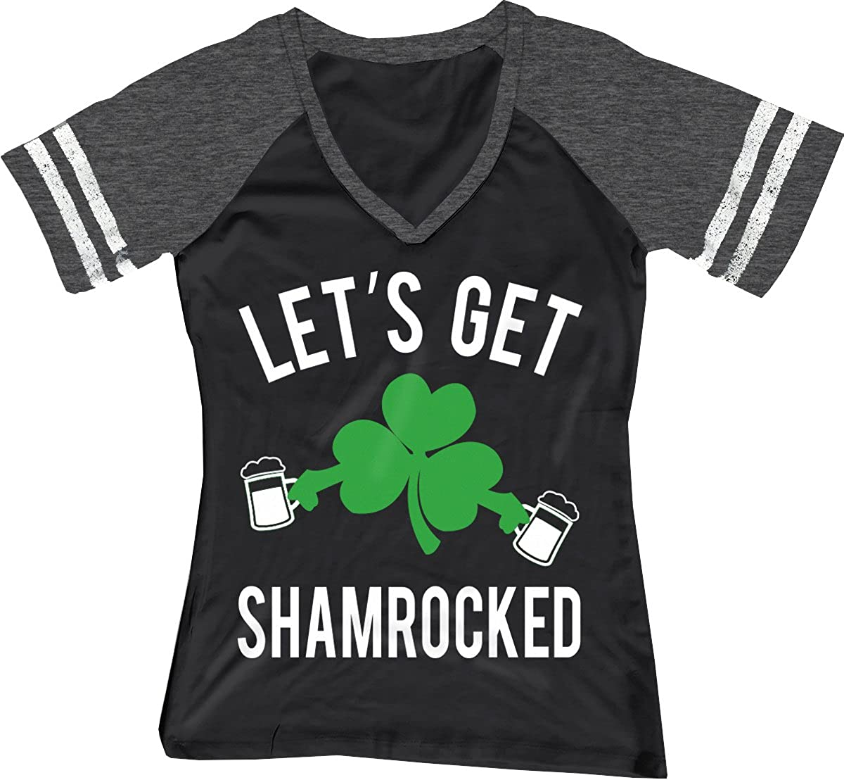 0ffbb1d01 Amazon.com: NoBull Woman Apparel Let's Get Shamrocked ST. Patrick's Day  Shirt Women's Black: Clothing