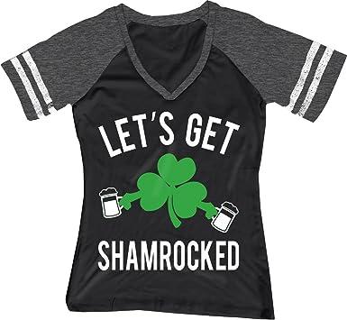 9ec77beb NoBull Woman Apparel Let's Get Shamrocked ST. Patrick's Day Shirt Women's  Black ...