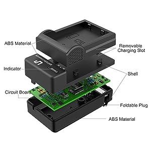 LP EN-EL9 EN EL9a Battery Charger, Compatible with Nikon EN-EL9 EN EL9a Battery, Nikon D40, D40X, D60, D3000, D5000 Cameras, Replacement for Nikon MH-23 Charger (Color: Charger, Tamaño: Charger)