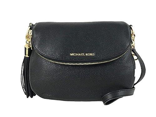 1ec9a562f5ace0 Michael Kors Bedford Medium Tassel Black Convertible Shoulder Bag Pebbled  Leather: Amazon.ca: Shoes & Handbags