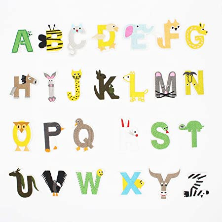 Letter A-Z Embroidered Motif Applique Iron On Patch Sew Clothing DIY UKL Je