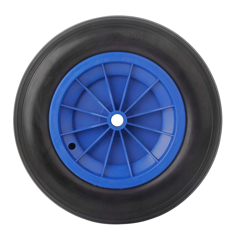 1 PCS Forever Speed Brouette roue PU roue 3.50-8 Polyur/éthane solide caoutchouc roue de secours 356 X 80 mm