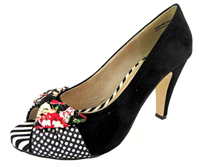 Tamaris Damen 1–29300–24 Textil Peep Toes, Schwarz Schwarz
