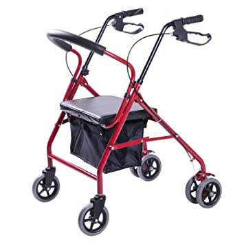 Ligero rodillo plegable de 6 ruedas con carrito de senderismo para hombre viejo, ...