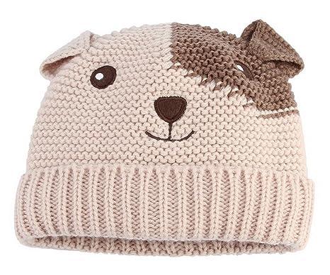 La Vogue Enfant Bébé Chapeau Tricot Hiver Automne Petit Chiot Oreille Bonnet  Garçon Fille Size1 8b29e8cf86e
