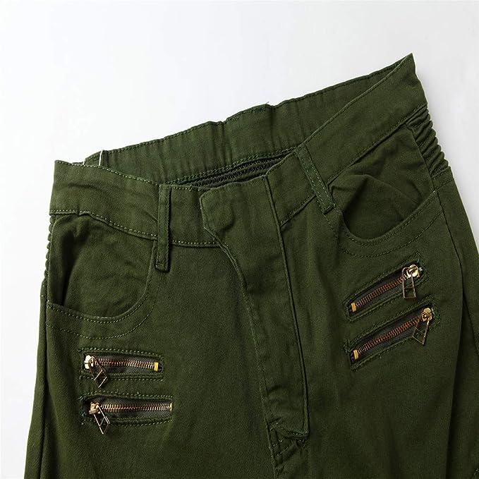 Hombre Vaqueros Pantalones - Elasticidad Jeans de Moto ...