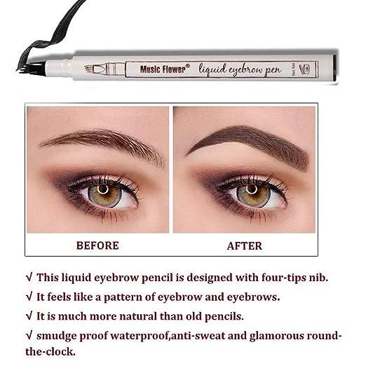 Amazon Ethradia Tattoo Eyebrow Pen With Four Tips Brow Pen