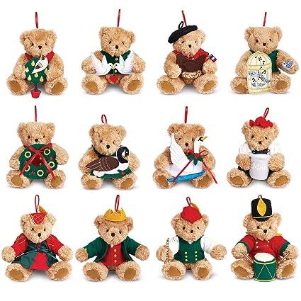 vermont teddy bear 12 days of christmas ornament set - 12 Days Of Christmas Ornament Set