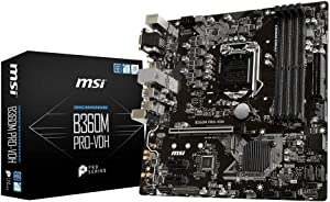 MSI B360M PRO-VDH Desktop Motherboard Intel Chipset Socket H4 LGA-1151