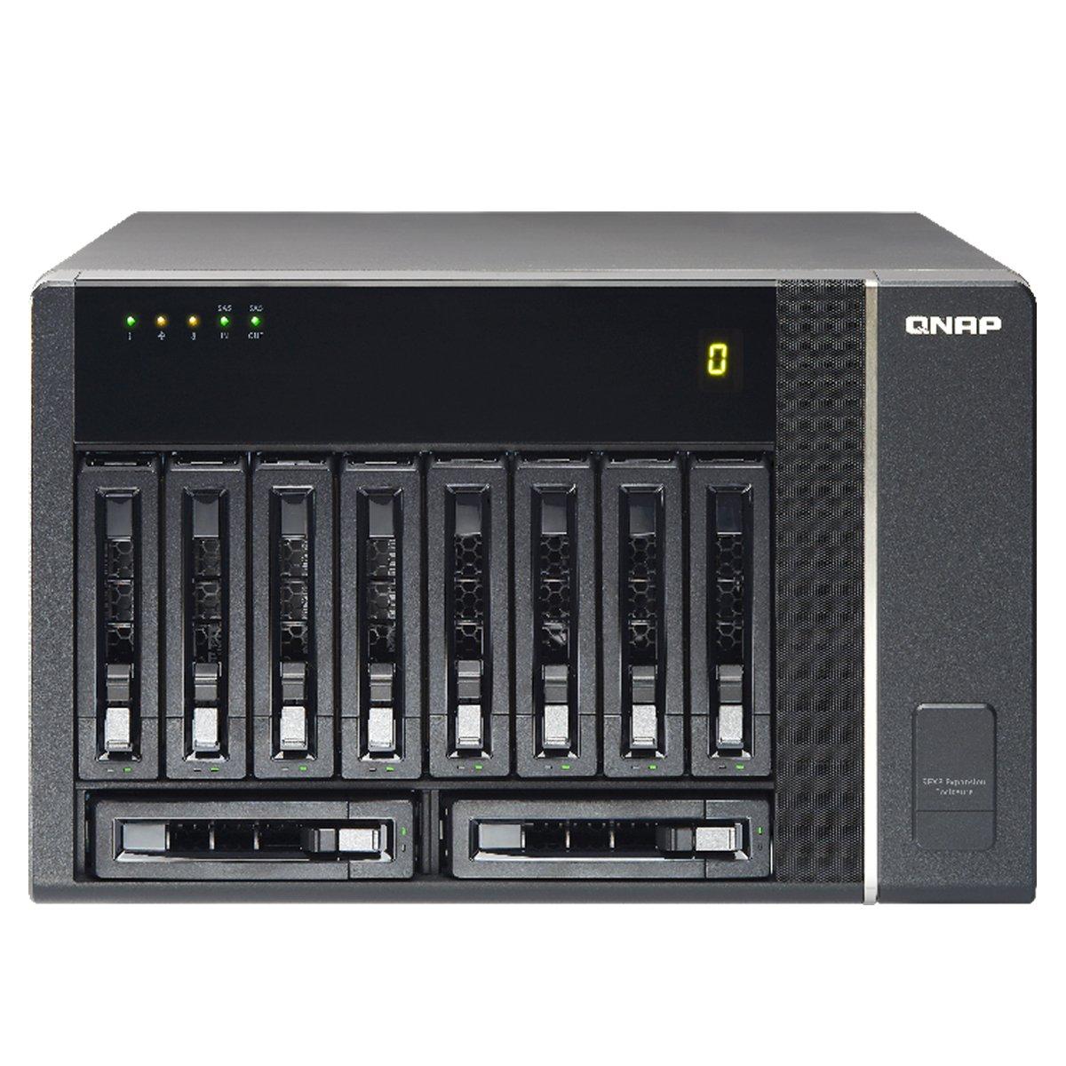 QNAP REXP-1000-PRO RAID Expansion Enclosure, Tower, 10-bay, Single Power Supply with 6G SAS Cable 9REXP-1000-PRO)