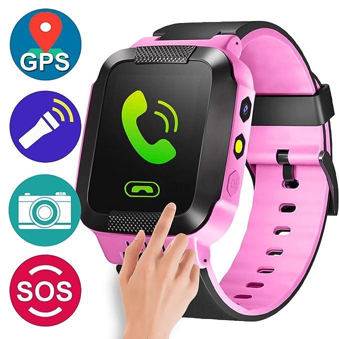 GPS Tracker - Reloj inteligente para niños y niñas, para verano ...
