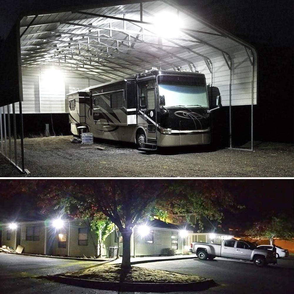 DLLT LED Strahler Au/ßenstrahler 30W SMD IP66 Wasserdicht 3300 Lumen 6000K Kaltwei/ß Schwarz Super hell f/ür Garten Skulptur Plakatwand Sportplatz Landschaft Garage