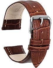 Ullchro Cinturino Alta qualità in Vera Pelle Cinturini Orologi Accessori Bordatura Cucita - 12,14,16,18,19,20,21,22,24 mm Cinturino Orologio con Fibbia Dell'acciaio Inossidabile