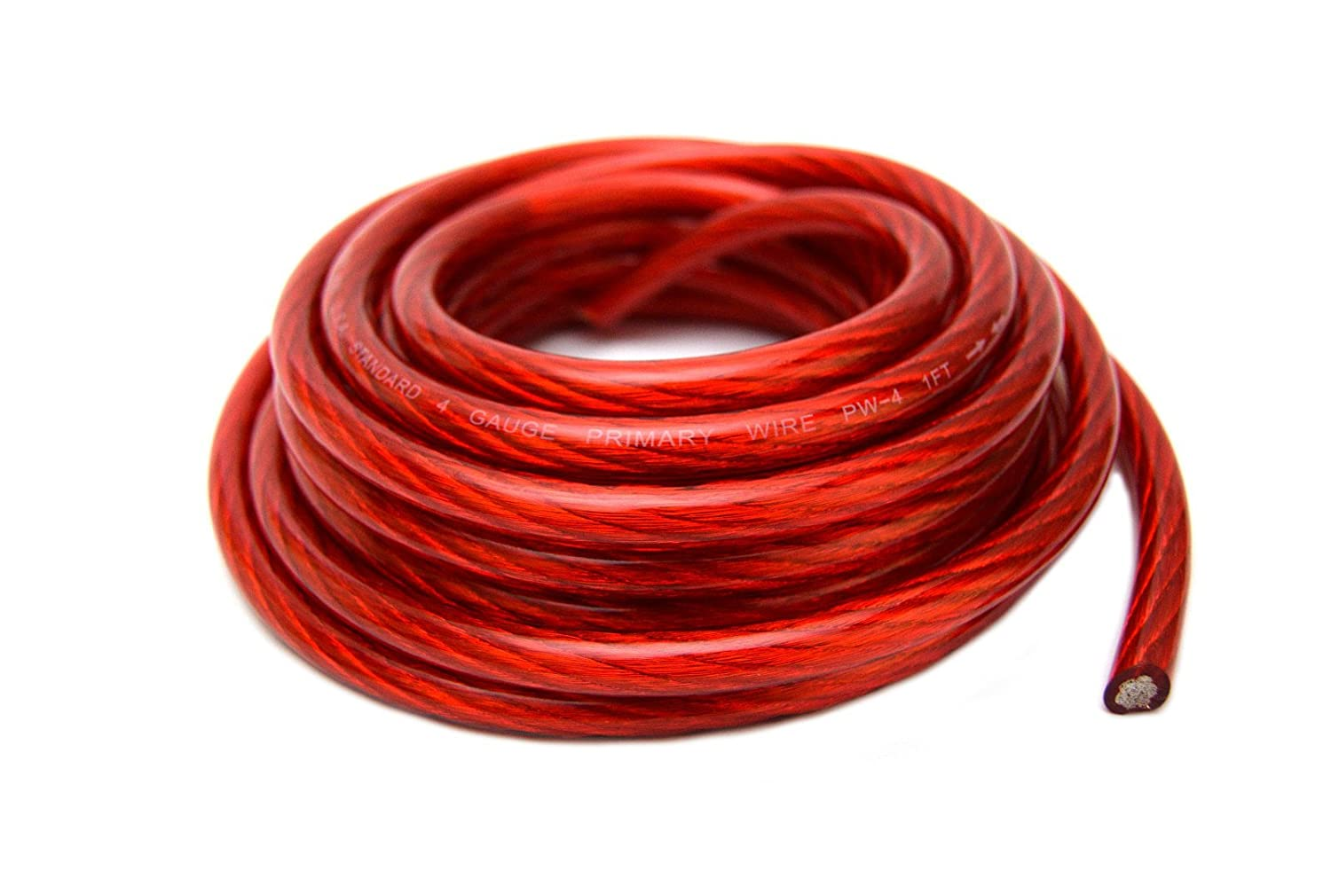 Amazon Com  Black And 25 Red Car Audio Power Ground Wire Cable 50 Ft Total Cell Phones Accessories