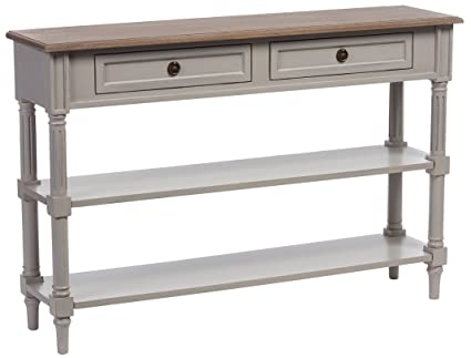 Baxton Furniture Studios Edouard French Provincial Style Distressed Two  Tone 2 Drawer Console Table, White