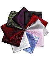 Kissing U Men Handkerchief Solid Color & Mixed Assorted Pattern Pocket Square Set