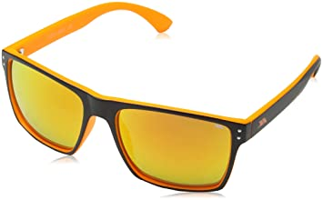 a101ad4bb Trespass Zest, Black/Orange, Sunglasses with UV Protection, Mirror Coating  & Cloth