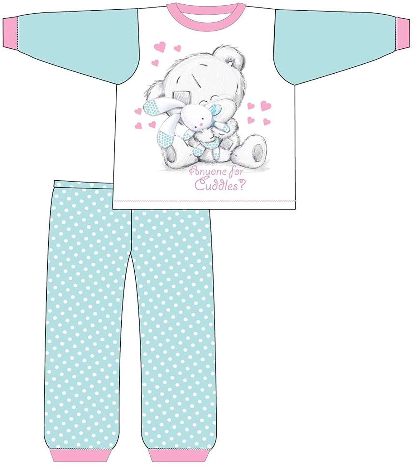Baby Toddler Girls Tiny Tatty Teddy Anyone For Cuddles Pyjamas 6 Months to 24 Months 27517