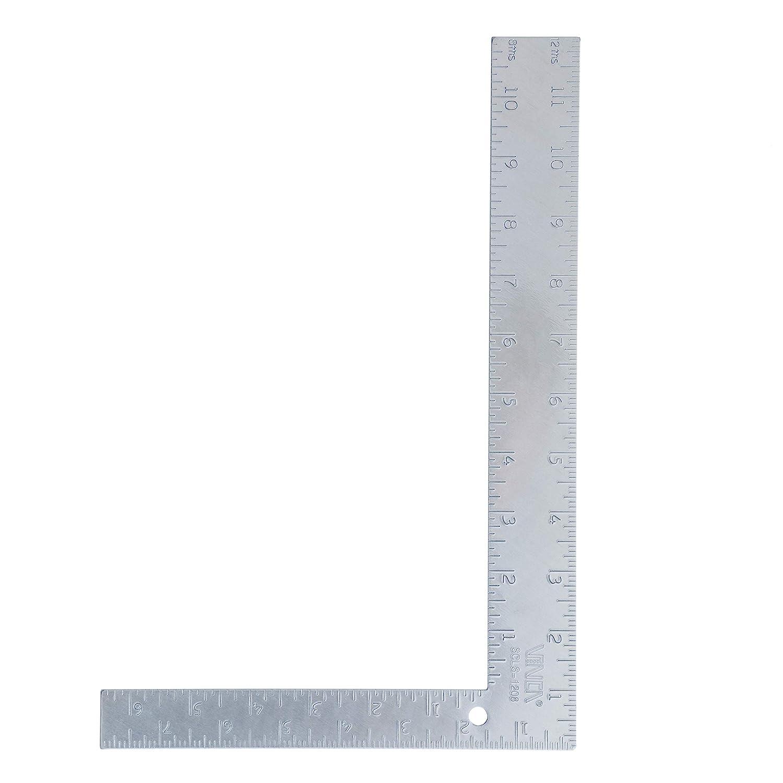 VINCA SCLS-1208 Carpenter L Framing Square 8 inch x 12 inch Measuring Layout Tool