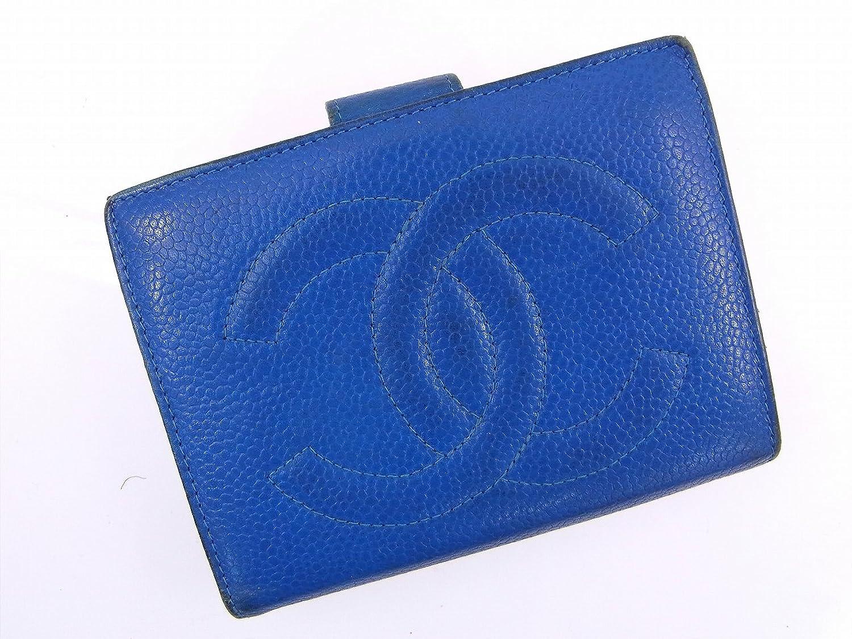 [シャネル] CHANEL 二つ折り財布 キャビアスキン×ココマーク レザー X12664 中古 B01L1S7M5A