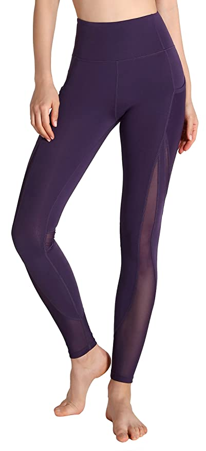 Motorun Yoga Pantalones Mujeres Deportes Fitness Gym Pilates Legging (Purple-XS)