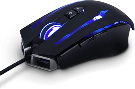 6 Button USB Black Matt Gaming Mouse with LED Lighting 1 Year Warranty