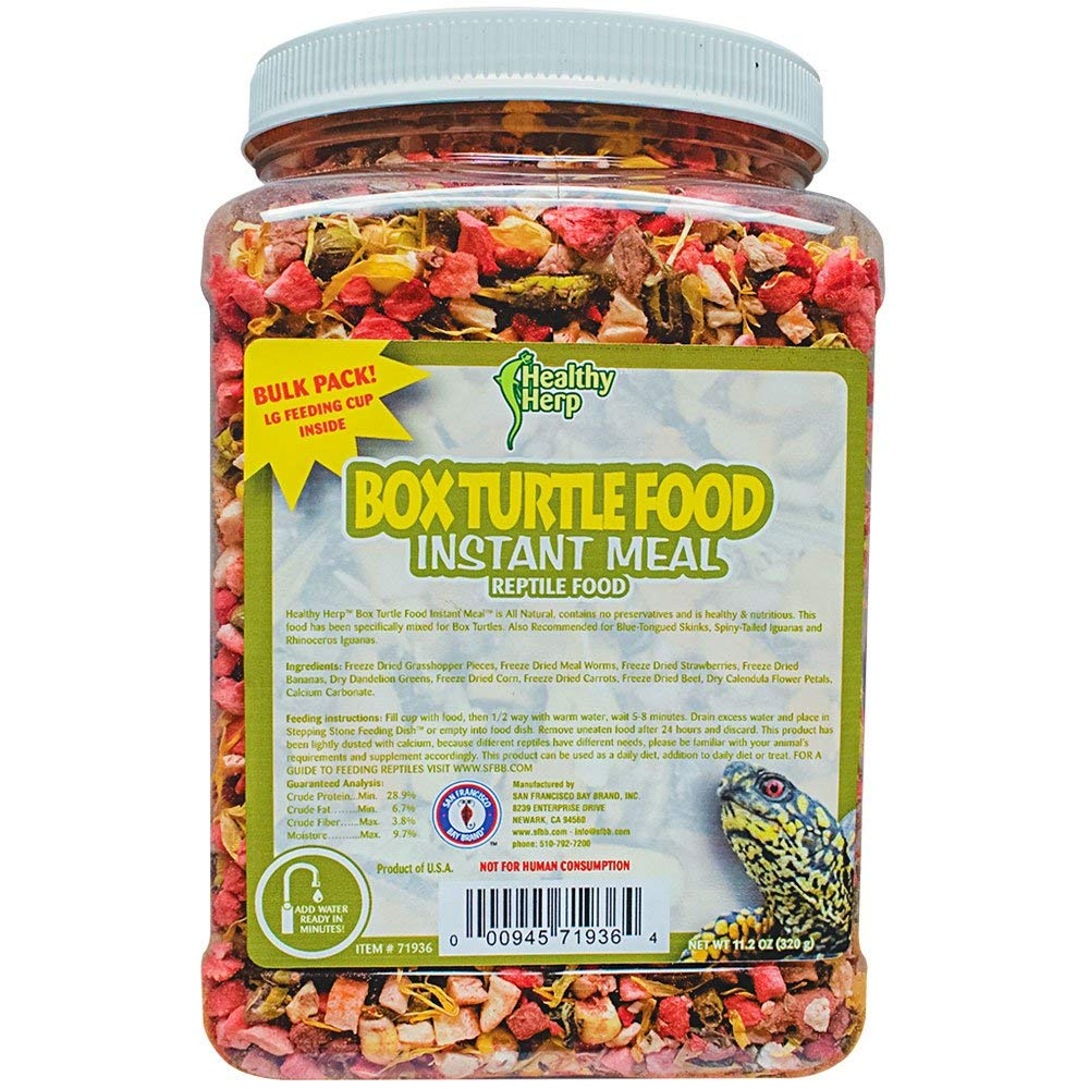 Healthy Herp Box Turtle Food Instant Meal Bulk 10.5-Ounce (310 Grams) Jar by Healthy Herp