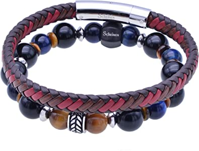 Multi-layer Natural Stone Bracelet,Healing Gemstone Bracelet,Natural Stone Bracelet,Healing Crystals Bracelet,Leathe Wraps Bracelet Gift