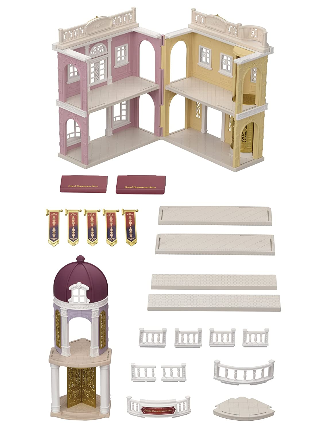 Sylvanian Families 6017 Grand Department Store Playset, New Town ...