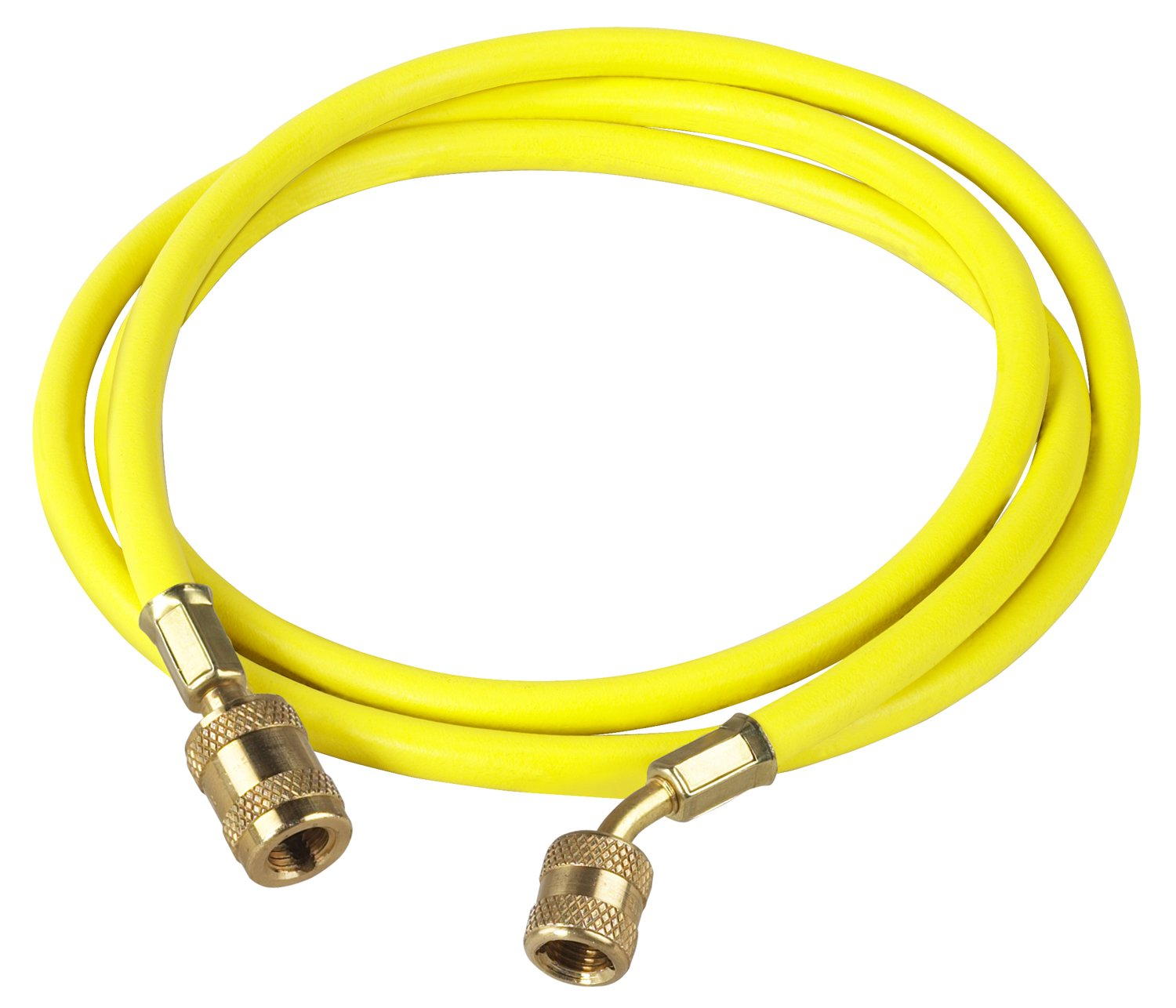 Robinair 68172A Enviro-Guard Yellow 72' Hose with 45 Degree Quick Seal Fitting