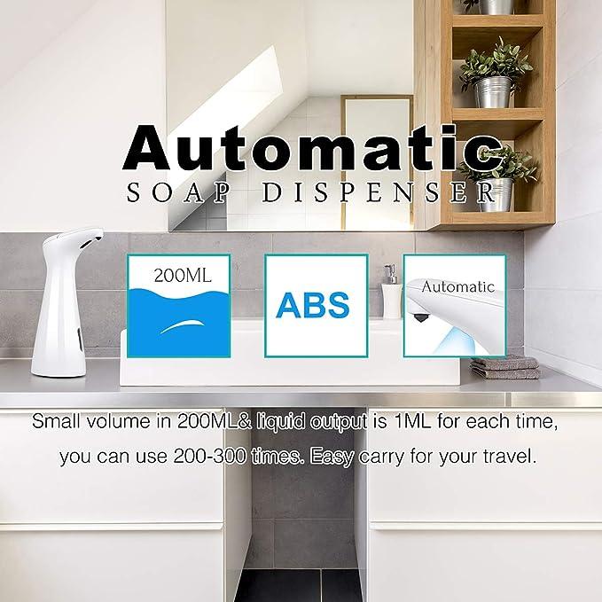 Amazon.com: AUKUN Automatic Soap Dispenser, Touchless Hand Free Liquid Dish Soap Dispenser Bathroom & Kitchen, Upgraded Waterproof Base & IR Sensor …