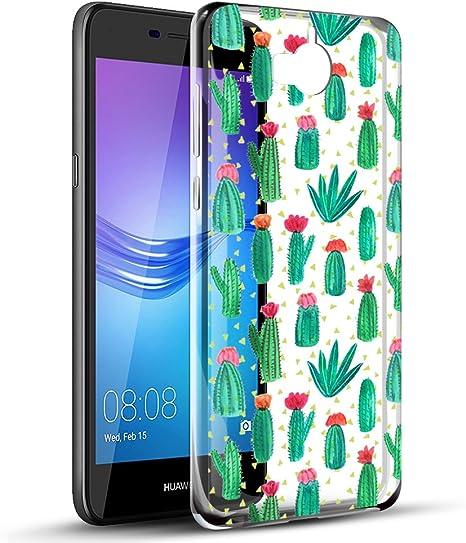 Coque Huawei Y6 2017, Eouine Etui en Silicone 3D Transparente avec Motif Fun Fantaisie Dessin Anti Choc Case Cover Housse Coque Telephone pour Huawei ...