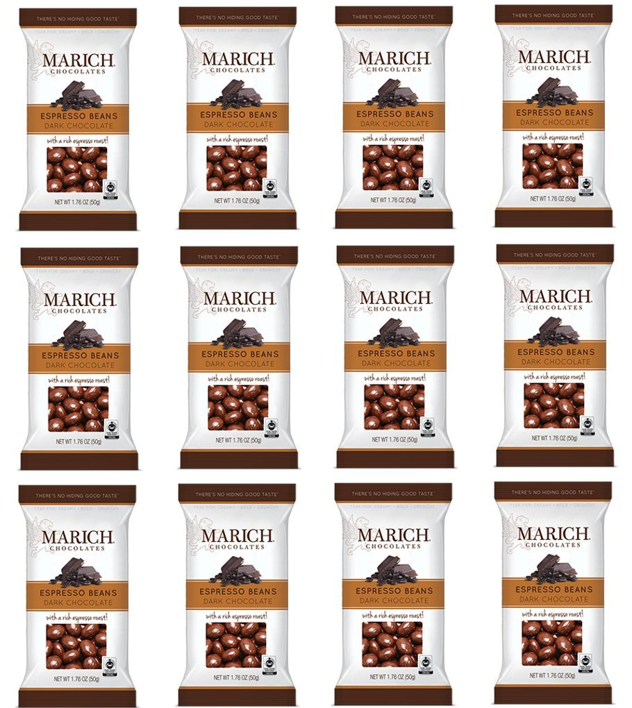 Marich Chocolate Espresso Beans, 1.76-Ounces (Pack of 6) by Marich