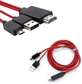MHL - Cable Adaptador de Micro USB a HDMI 1080P HD para Samsung ...
