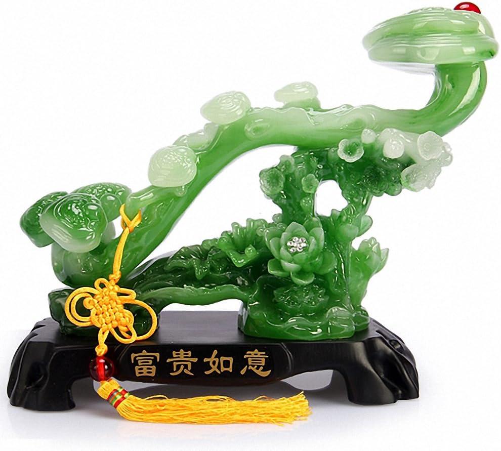 BOYULL Feng Shui Ruyi Statue, Chinese Charm of Prosperity Home Decoration,Feng Shui Decor