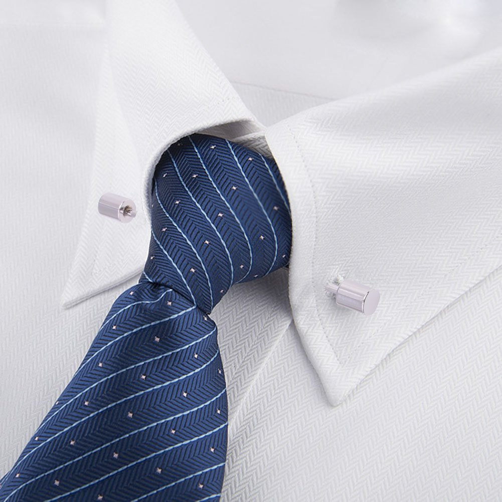 OBONNIE 3PCS Men's Collar Bar Pins Shirts Tie Pins Necktie Cravat Pin Collar Brooch with Gift Box by OBONNIE (Image #7)