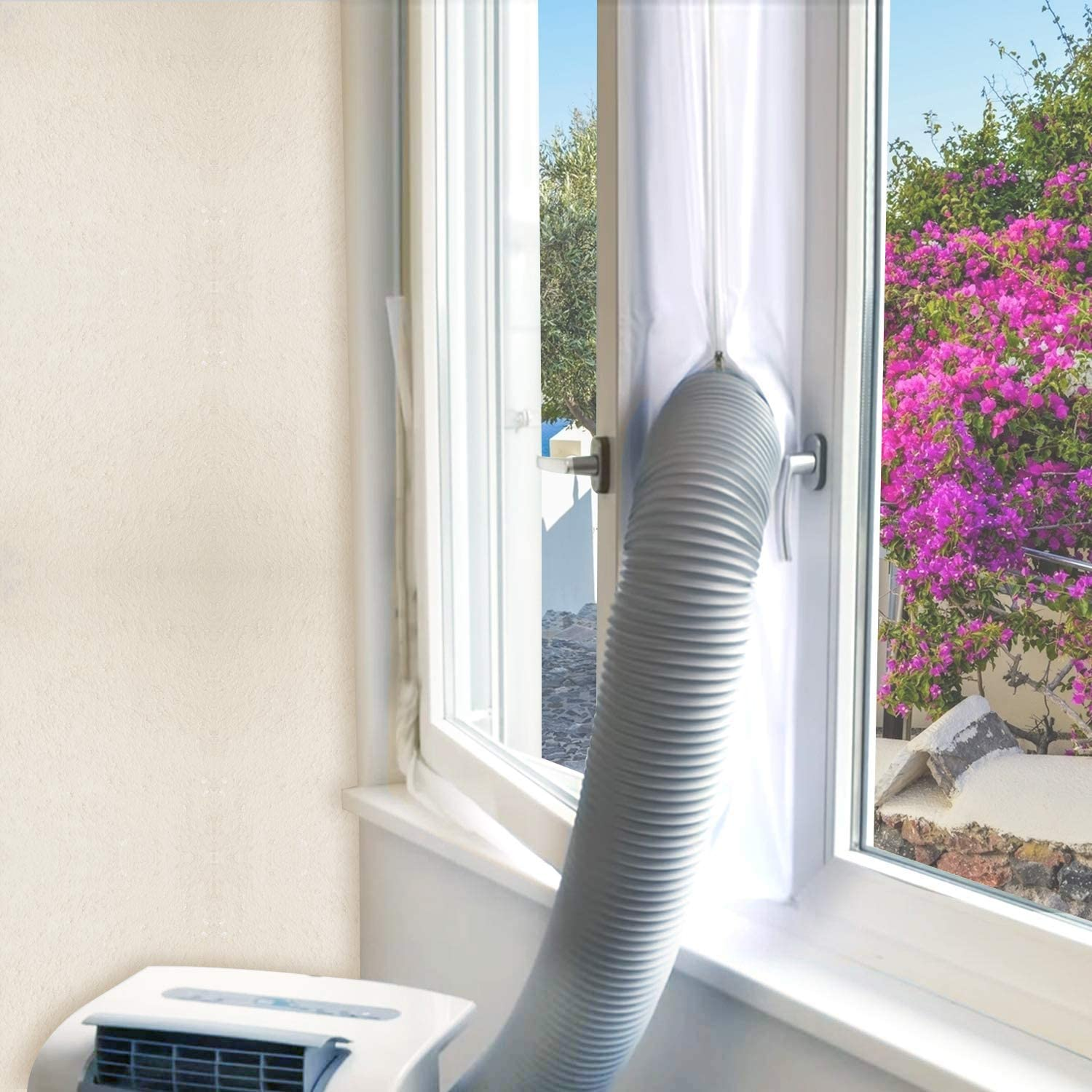 FUNTECK Window Seal Kit for Portable Air Conditioner, Compatible with Small Casement Crank Window and Tilting Window, Waterproof 118 inch Long