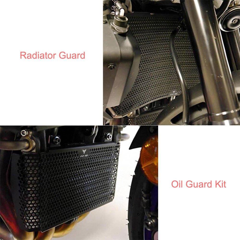 FZ-10 MT-10 Motorcycle Radiator Guard /& Oil Guard Kit For Yamaha FZ-10 FZ10 FZ 10 MT-10 MT10 2016 2017 2018