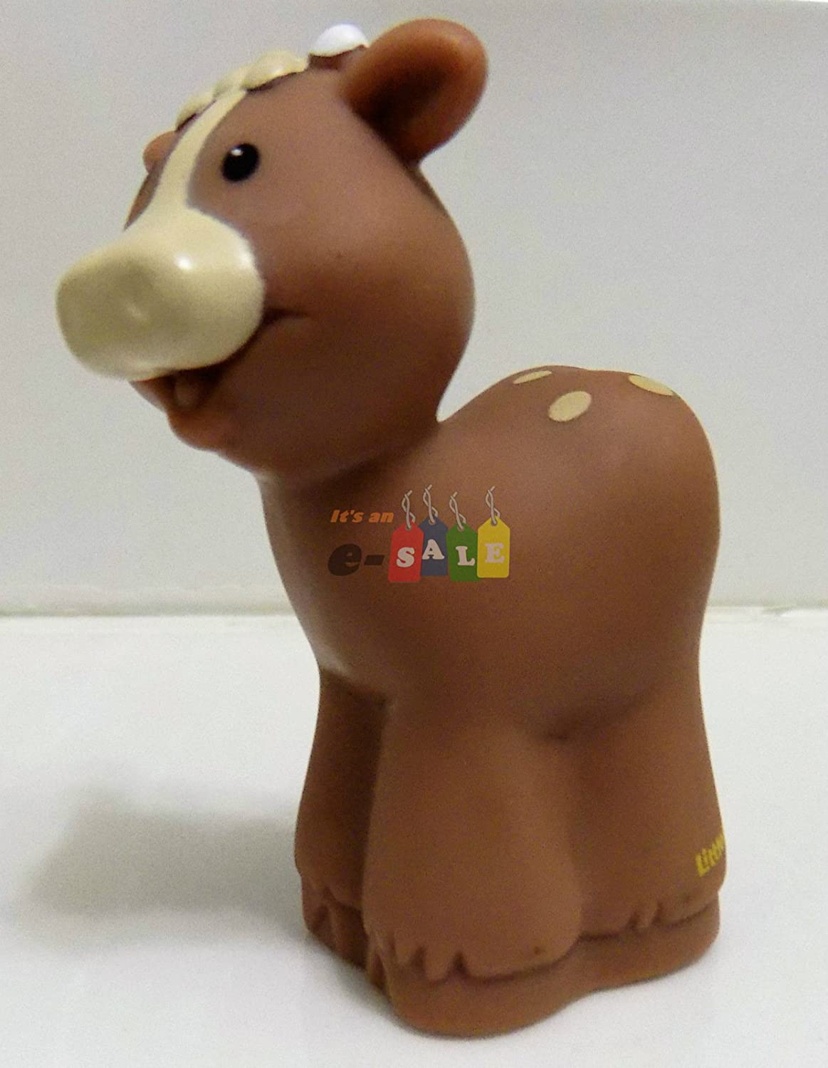 Fisher Price Little People Christmas Bible Nativity Farm Zoo Animal Replacement Small Tan Cow Calf 2002