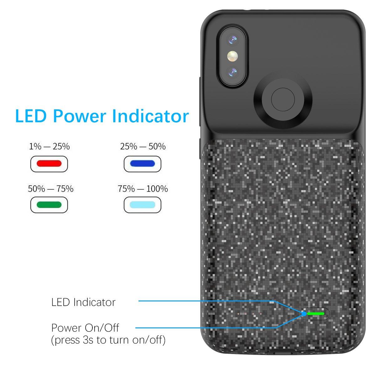 Amazon.com: Scheam Xiaomi Mi A2/6X Battery Case, Battery ...